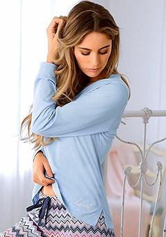 Long Sleeve Pajama Top product image (X39023LB_00)