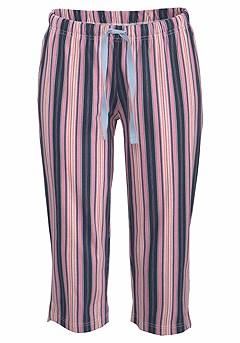 Print Capri Pajama Pants product image (X39025BLPK_00)