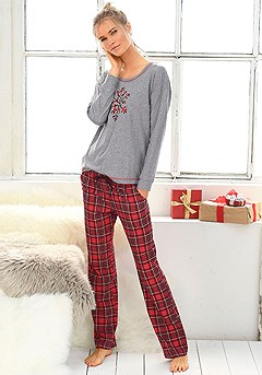 Winter Print Pajama Set product image (X39027-GYMO-00-S)