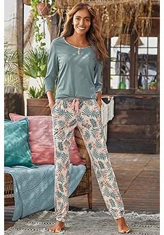 Pattern Pajama Set product image (X39056MUPR_1)