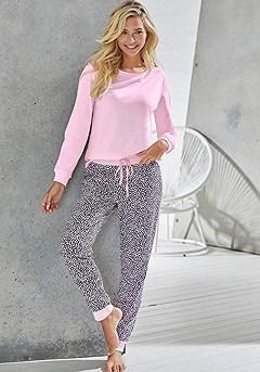 Animal Print Pajama Pants product image (X39063RSMO)