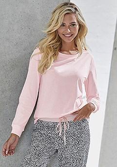 Soft Cotton Pajama Top, Animal Print Pajama Pants product image (X39064RS_X39063RSMO_11)