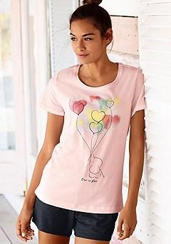 Elephant Print Short Style Pajama Set product image (X40017-BKRS-00)
