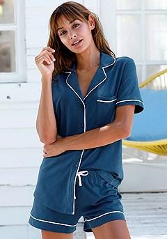 Short Style Comfy Pajama Set product image (X40042.BL.1S)