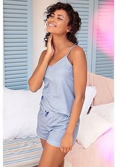Patterned Short Style Pajama Set product image (X40043BLWH)