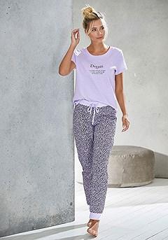 Soft Graphic Pajama Top, Animal Print Pajama Pants product image (X40055LC_X39063LIPR_1)