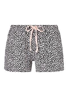 Soft Graphic Pajama Top,Animal Print Pajama Shorts product image (X40056RSMO_1)