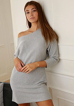 Ribbed Lounge Dress product image (X41009.GYMO.11-S)