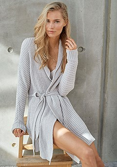 Cozy Knit Robe product image (X43005-GY-00-S)