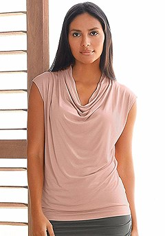 Cowl Neck Yoga Top product image (X45003.PORS.P)