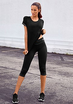 Active Workout Top, Zip Pocket Active Capris product image (X45005_X56012_BK)