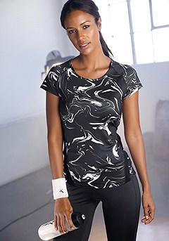 Short Sleeve Active T-Shirt product image (X45015.BKPR.00)