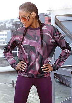 LA Active Workout Sweatshirt product image (X45018.3)