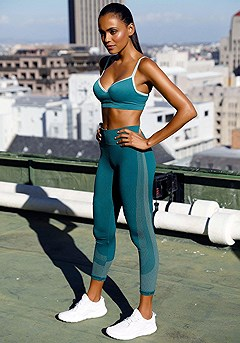 Underwire Active Sports Bra product image (X46007.TEAL.X56020.P)