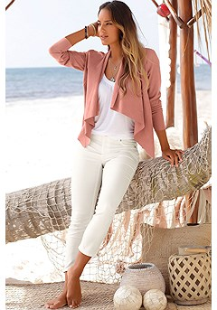 Suede Look Flowy Jacket product image (X48009-MV-00)