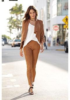 Suede Look Flowy Jacket, Suede Look Pants product image (X48009.CG.X38043.CG.1)