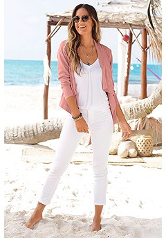Suede Look Flowy Jacket product image (X48009MV_1)