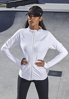 Gathered Waist Active Jacket product image (X48012-WH-00-S)