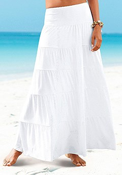 Flowy Maxi Skirt product image (X50002_WH_1)