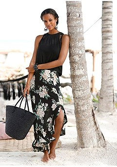 Ruffled Maxi Skirt product image (X50010.BK.11-S)