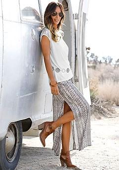 Boho Print Maxi Skirt product image (X50011.ANPR.1-S)