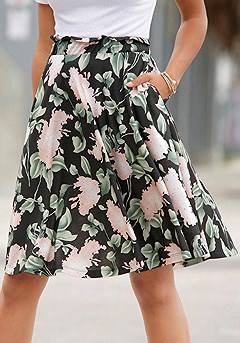 High Waisted Print Skirt product image (X50048.MUPR_1)