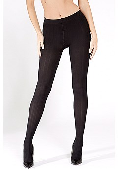 Ribbed Opaque Tights product image (X55013.BK_4)