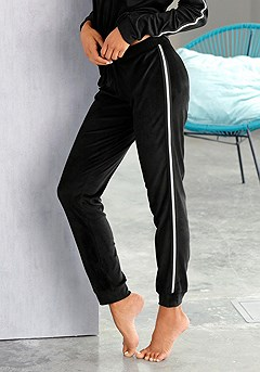 Velour Lounge Top, Velour Lounge Pants product image (X56016BK_00)