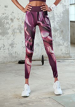 Marble Print Workout Leggings product image (X56021.EPPR.01)