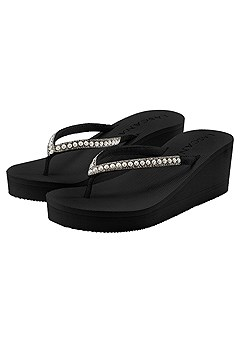 Pearl Wedge Sandal product image (X60009-BK-000)