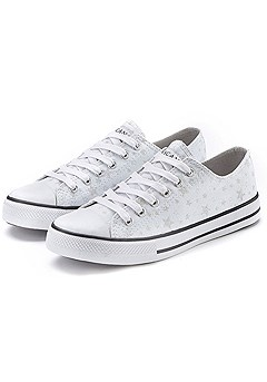 Star Print Lace-Up Sneakers product image (X60010-WH-001)