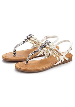 Snakeskin Braided Sandals product image (X60012.CPP)
