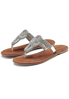 Decorative Bead Sandals product image (X60013-SL-000)