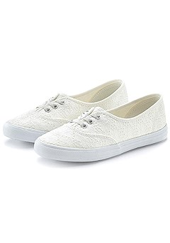 Embroidered Canvas Sneaker product image (X60016.WH.CP)