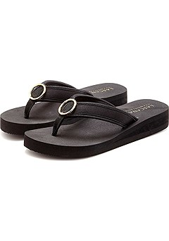 O-Ring Wedge Flip Flops product image (X60020-BK-00)