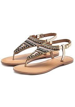Boho Beaded Sandals product image (X60023-BEGL-01-S)