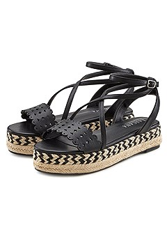 Strappy Wedge Sandals product image (X60093BK_1)