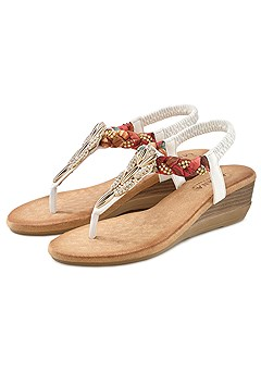 Embellished Braided Sandals product image (X60099WH_22)