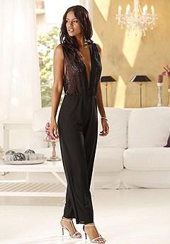 Sexy Chiffon Jumpsuit product image (X62001-BK_00)