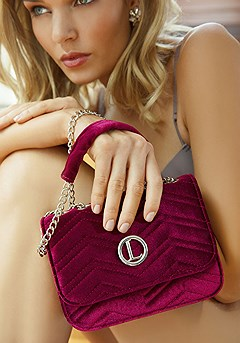 Velvet Chevron Crossbody Bag product image (X63010BY-S)