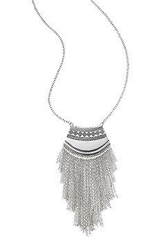Boho Chain Fringe Necklace product image (X63011-SL-00-SS)