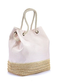 Patterned Canvas Beach Bag product image (X63012-WHRS-00)