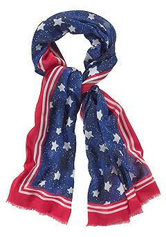 American Flag Scarf product image (X63014.RDPR)