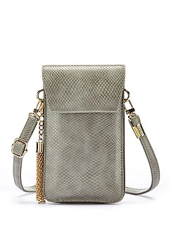 Tasseled Mini Crossbody Bag product image (X63028GY_1)