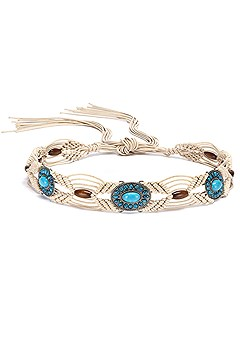 Turquoise Detail Braided Belt  product image (X63029N_1)
