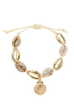 Shell Pendant Anklet product image (X63032.GD_1)